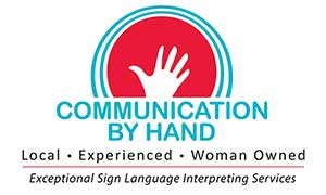 Communications By hand Logo